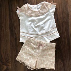Max Studio Baby Shirt & Shorts Set NWOT